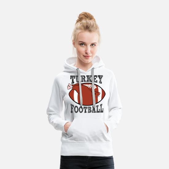 Rugby Hoodies & Sweatshirts - Turkey football - Women's Premium Hoodie white