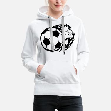 Ball Soccer ball lion - Women's Premium Hoodie