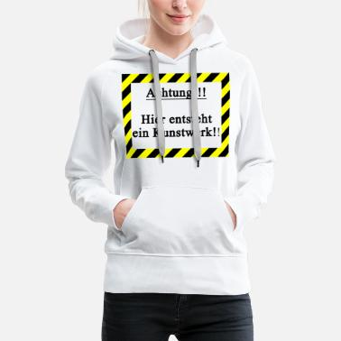 Attention, artwork - Women's Premium Hoodie