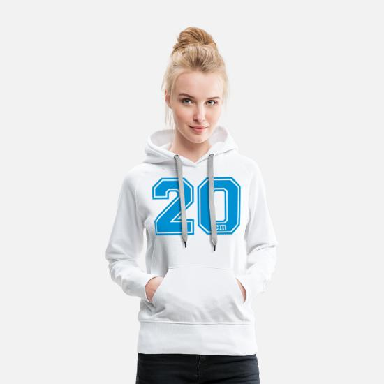 Cool Hoodies & Sweatshirts - twenty - 20 - Women's Premium Hoodie white