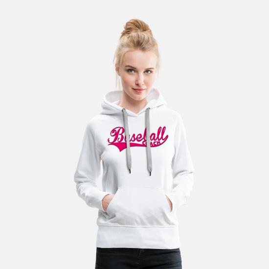 Baseball Sweat-shirts - Baseball Coach Pink - Sweat à capuche premium Femme blanc