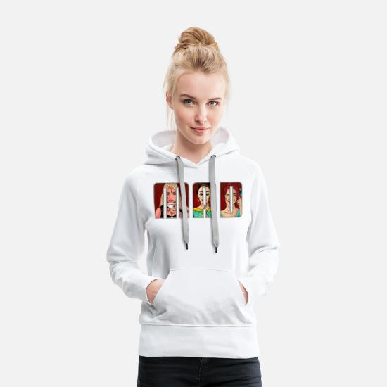 Wink Hoodies & Sweatshirts - Pop art women artwork. - Women's Premium Hoodie white