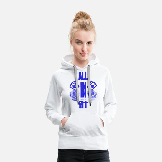 Gift Sweaters & hoodies - Poker ALL IN Card Poker Texas Holdem - Vrouwen premium hoodie wit