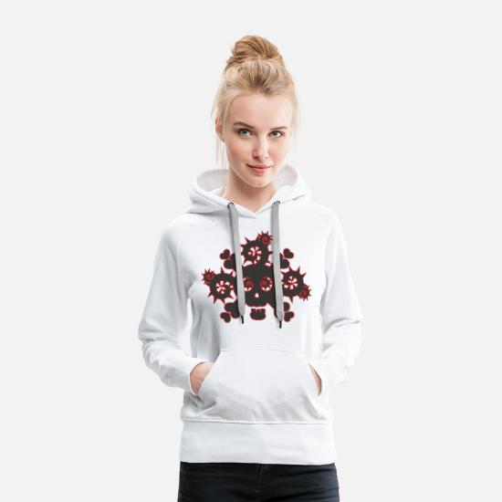 Mexican Hoodies & Sweatshirts - Dead Thorn - Women's Premium Hoodie white