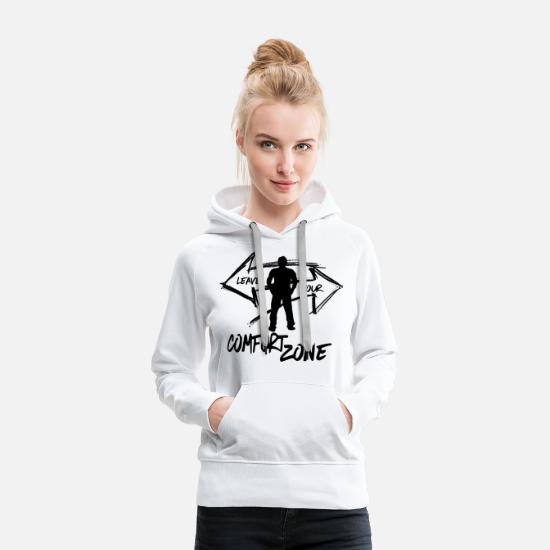 Mode De Vie Sweat-shirts - Quittez votre zone de confort Homme - Graffiti Adventure - Sweat à capuche premium Femme blanc