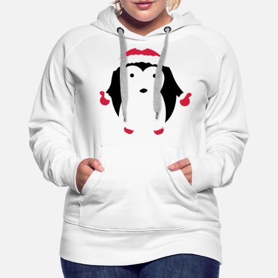 6cf4b405 christmas santa penguin pingu Women's Premium Hoodie | Spreadshirt