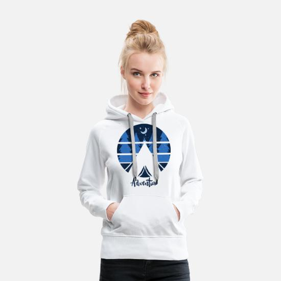 Camper Hoodies & Sweatshirts - Adventure - Women's Premium Hoodie white