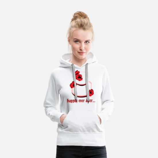 Bride Hoodies & Sweatshirts - for ever and ever happy wedding cake idea - Women's Premium Hoodie white