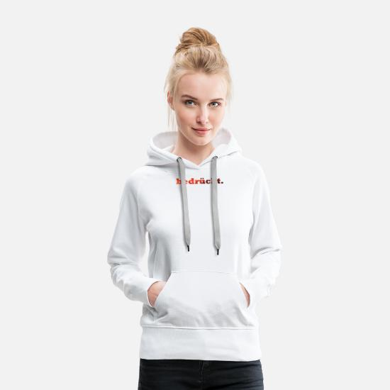 Emotion Sweat-shirts - déprimé. - Sweat à capuche premium Femme blanc