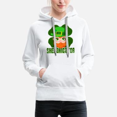 Alcohol St Patricks Day Party Shirt Shamrock Beer Gift - Women's Premium Hoodie