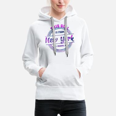 Tourist New York City Girl - Frauen Premium Hoodie