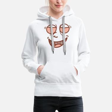 Facial Expressions High Face - Praller facial expression;) - Women's Premium Hoodie