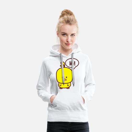 Gift Idea Hoodies & Sweatshirts - Hello chicks - Women's Premium Hoodie white
