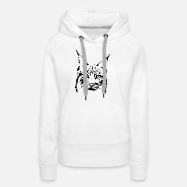 Chat Puma Lynx chat sauvage Sweat à capuche premium Femme