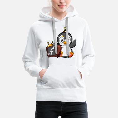 Television TV Penguin Television Television Shows Cartoon - Women's Premium Hoodie