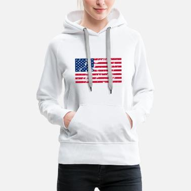 United Drapeau USA - Sweat à capuche premium Femme