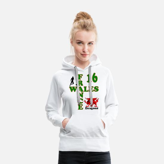Europe Hoodies & Sweatshirts - Wales Dragons 16 - Women's Premium Hoodie white