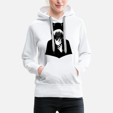 Graphic Art Anime Ear Hoodie. Japanese Geek Culture - Frauen Premium Hoodie