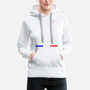 Red White And Blue France - blue white red - Women's Premium Hoodie