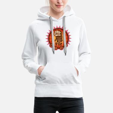 Beat Em Up Fighter Fist Emblem 02.2 - Frauen Premium Hoodie