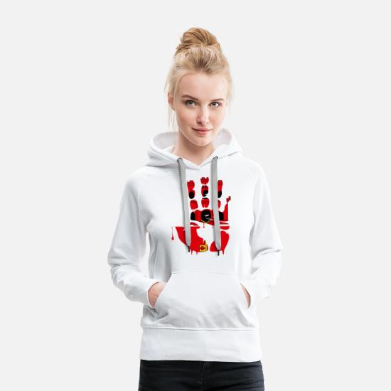 National Pullover & Hoodies - Give Me Five Gibraltar - Frauen Premium Hoodie Weiß