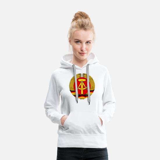 East Hoodies & Sweatshirts - East Germany DDR - Women's Premium Hoodie white