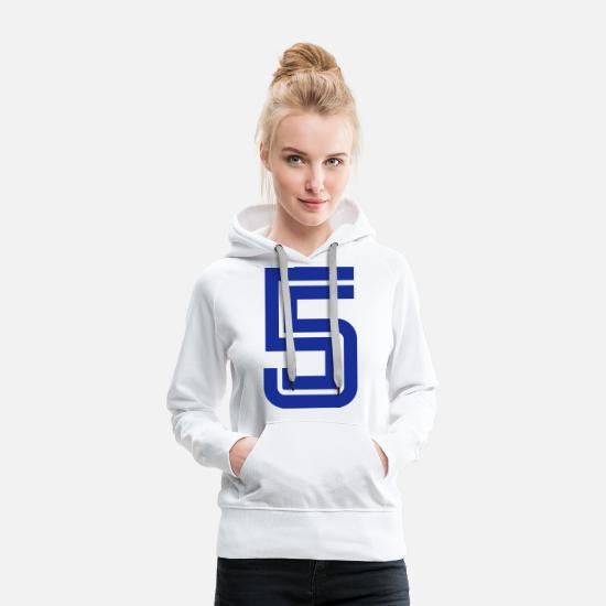 College Hoodies & Sweatshirts - College Numbers, Nummern, Sports Numbers, 5 - Women's Premium Hoodie white