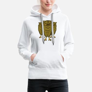 Birds 3 Cool evil owls team friends - Women's Premium Hoodie
