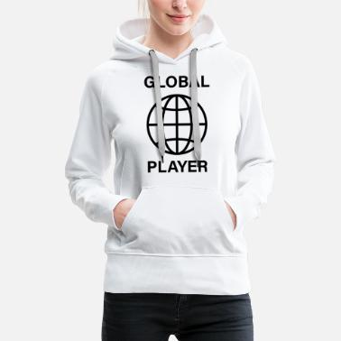 Global acteur global - Sweat à capuche premium Femme