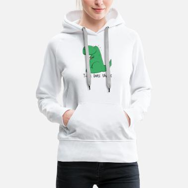 T-Rex loves the ukulele - Women's Premium Hoodie