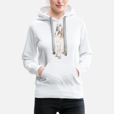Graphic Art Bloodhound - Women's Premium Hoodie
