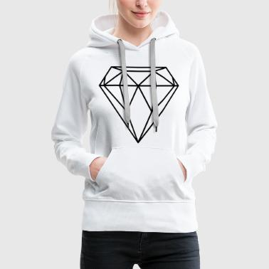 Diamant / Diamond (In every colour possible) - Dame Premium hættetrøje