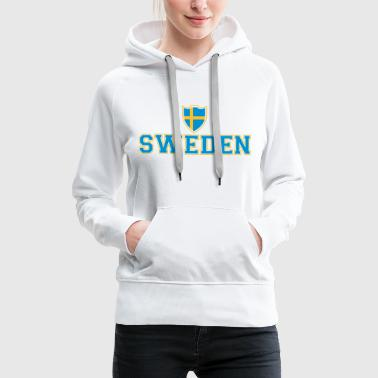Sweden Shield - Sweat-shirt à capuche Premium pour femmes