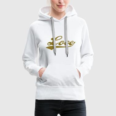 LOVE - i love you - Sweat-shirt à capuche Premium pour femmes