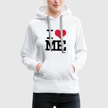 i love me by wam - Sweat-shirt à capuche Premium pour femmes