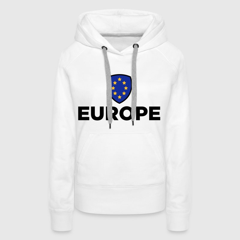 The Union Flag of Europe - Women's Premium Hoodie