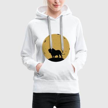 Löwe Mond Tier Zoo Afrika Space Safari - Frauen Premium Hoodie