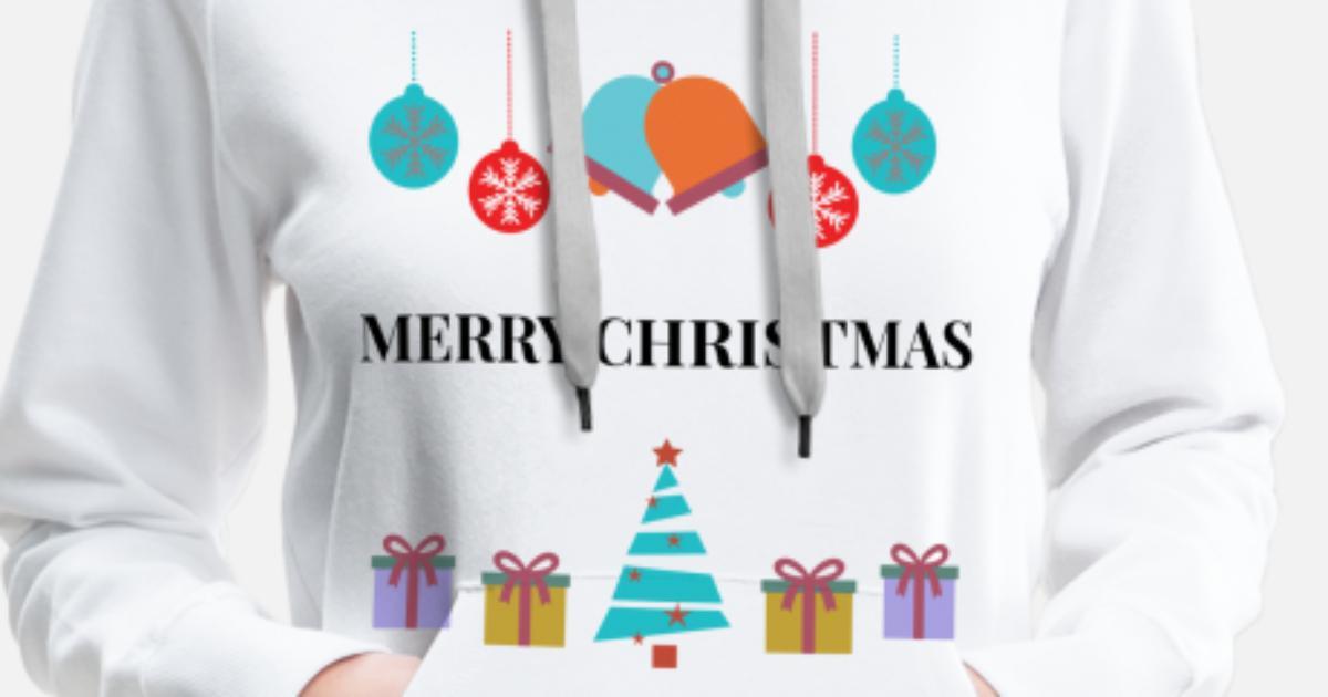 Frohe Weihnachten Englisch.Frohe Weihnachten Englisch Frauen Premium Hoodie Spreadshirt