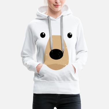 Fasching Bear Face Costume Shirt Funny And Cute Animal Tee - Frauen Premium Hoodie