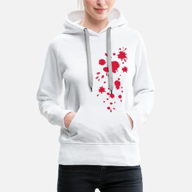 Splatter Blood, splatter, splash, stains, blob, Halloween - Women's Premium Hoodie