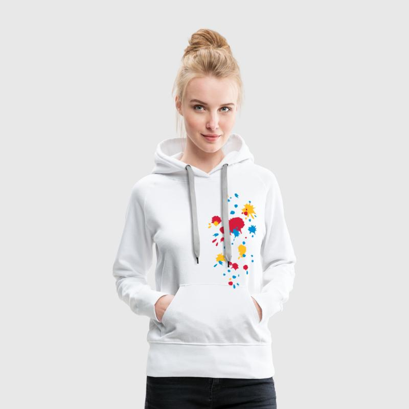 Color splash, paintball, game, splatter, graffiti - Women's Premium Hoodie