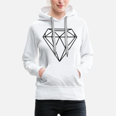 Diamant / Diamond (In every colour possible) - Sudadera con capucha premium para mujer