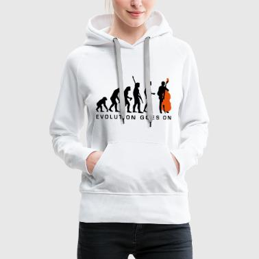 Double Bass evolution_bass_2c_b - Women's Premium Hoodie