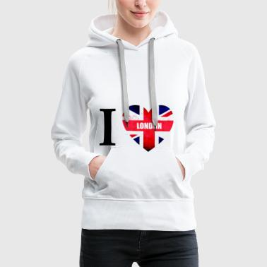 I Love London I love London - the cult shirt - Women's Premium Hoodie