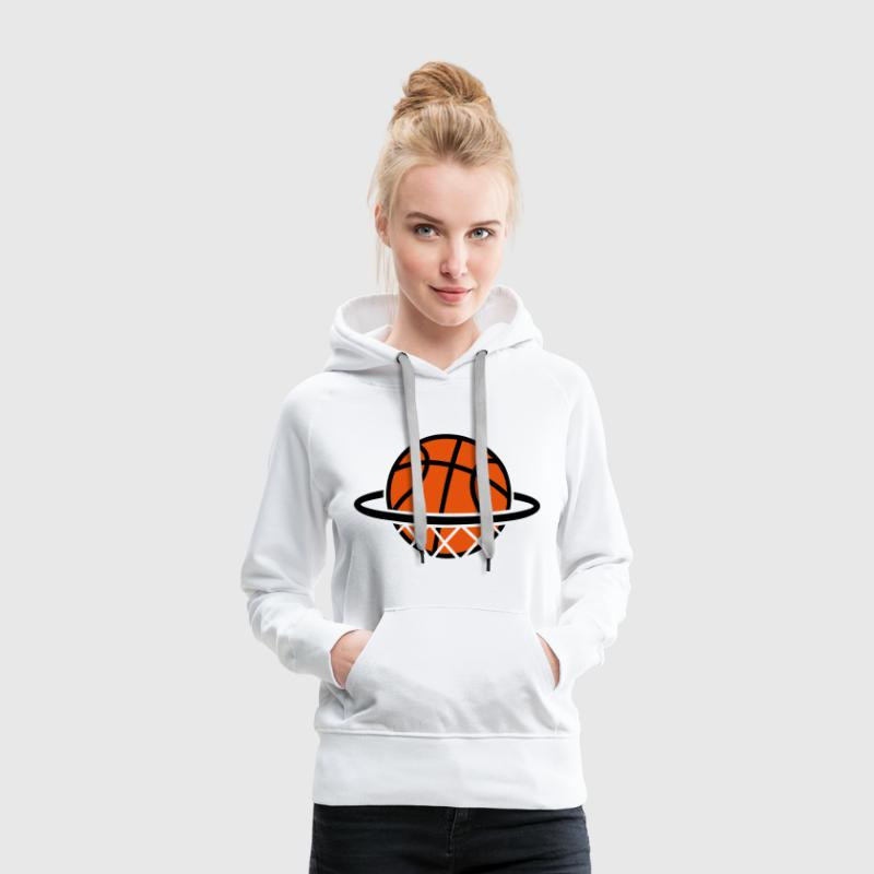 Dunk Basket-ball basket jeu de basketball Ballon - Sweat-shirt à capuche Premium pour femmes