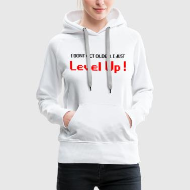 Kirsche Level Up schwarz - Frauen Premium Hoodie