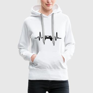 Video Gaming Heartbeat - Women's Premium Hoodie