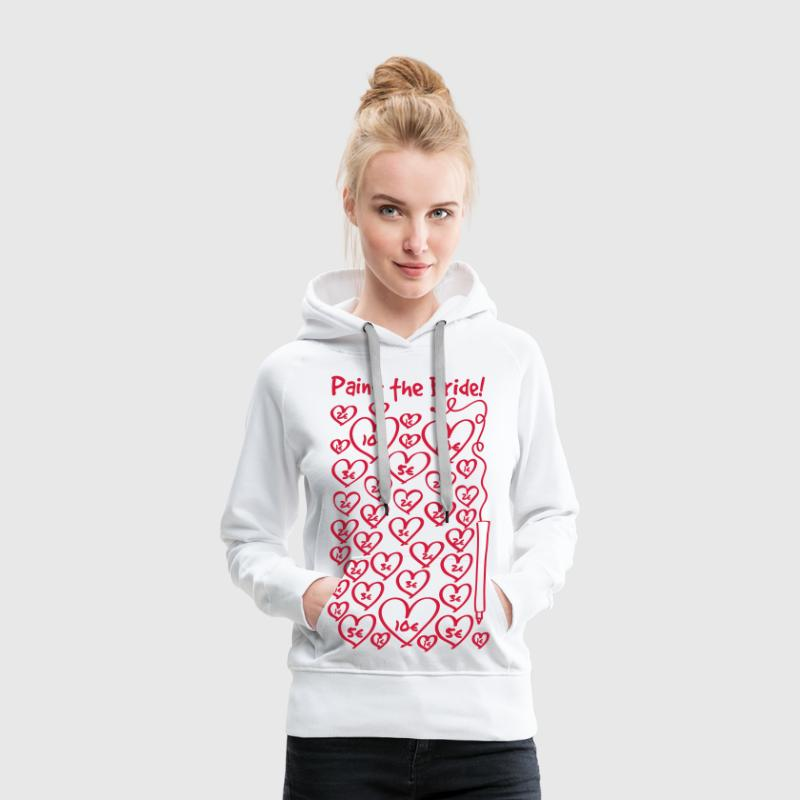 Paint the Bride - JGA - Frauen Premium Hoodie
