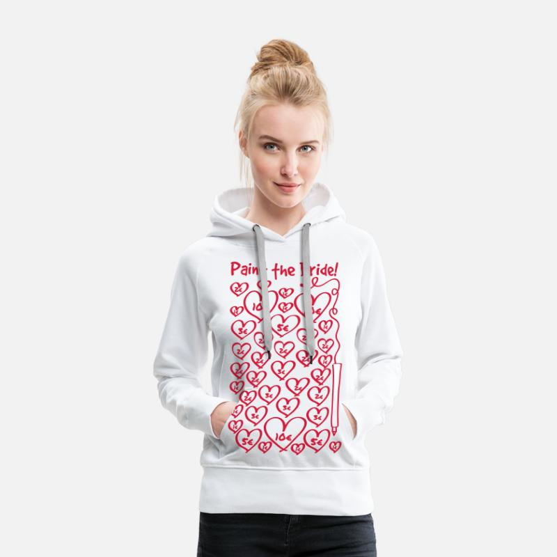 Marriage Hoodies & Sweatshirts - Paint to the bride - hen night - Women's Premium Hoodie white