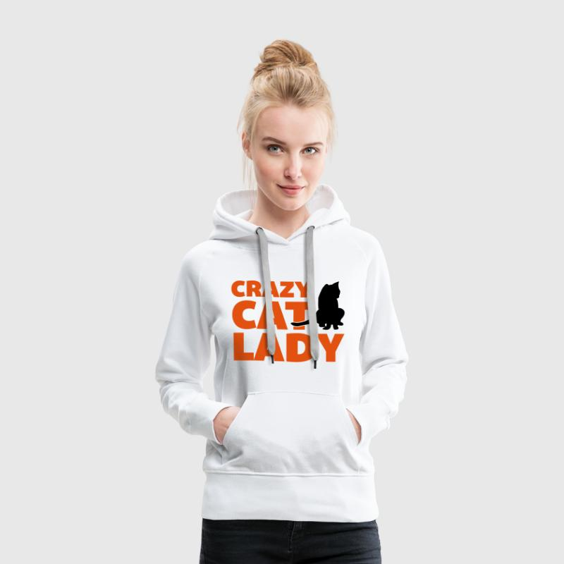 Crazy Cat Lady - Sweat-shirt à capuche Premium pour femmes